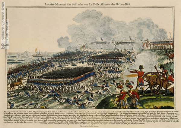 The Final Moments of the Battle of Waterloo (La Belle Alliance) on June 18, 1815 (19th Century)