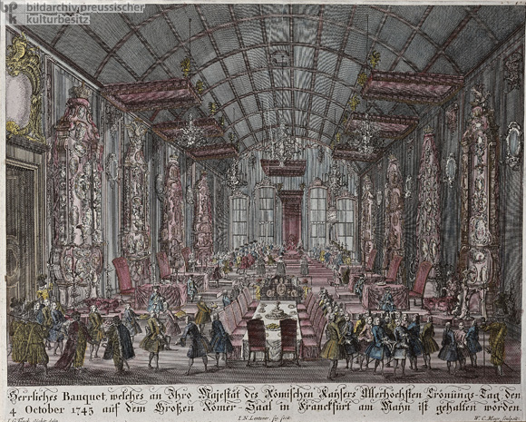 Coronation Banquet for Francis I, Holy Roman Emperor, in Frankfurt am Main on October 4, 1745 (c. 1750)