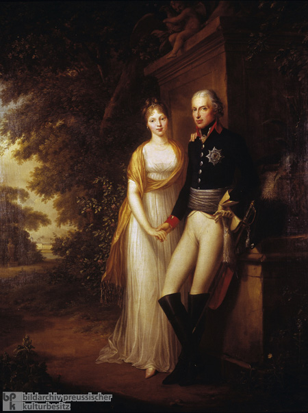 Frederick William III and his Wife, Queen Louise, in the Park at Charlottenburg Palace (1799)