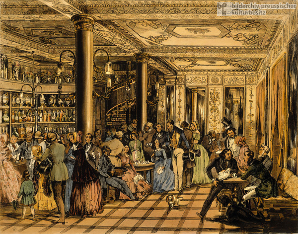 At the Café Français in Leipzig (1844)