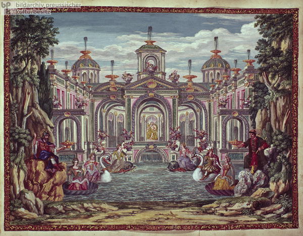 Theater Backdrop for a Hamburg Festival in Honor of Frederick III (1701)