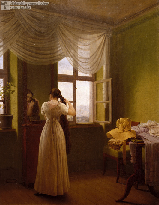 Georg Friedrich Kersting, <I>Before the Mirror</i> (1827)