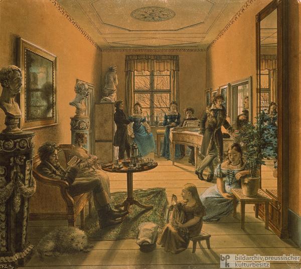 In A Berlin Living Room C 1815 1816