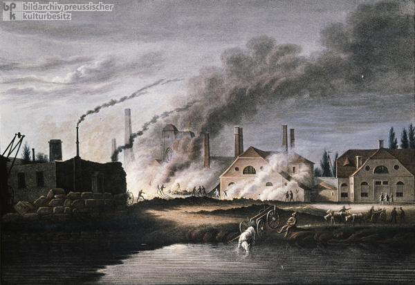 Royal Iron Foundry near Gleiwitz – Rear View (c. 1850)