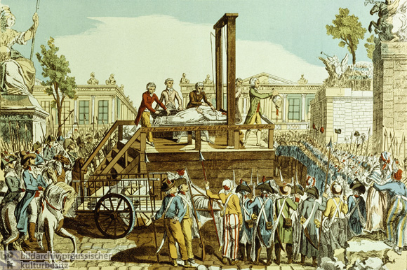 Public Execution of Marie Antoinette on October 16, 1793 (c. 1793)