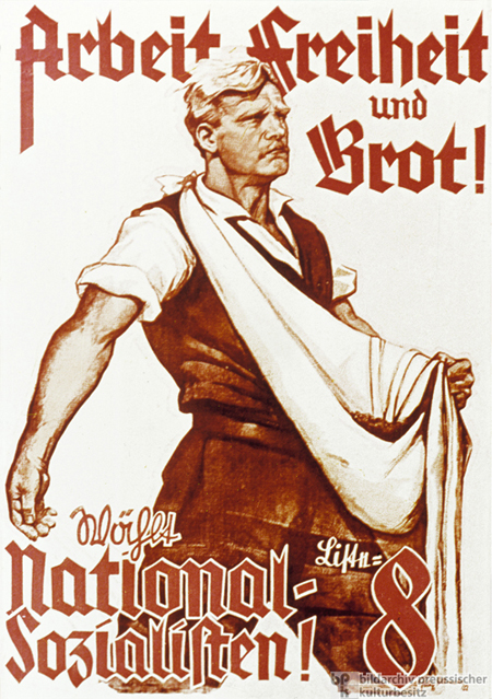 National Socialist German Workers' Party (NSDAP) Election Poster (1928)
