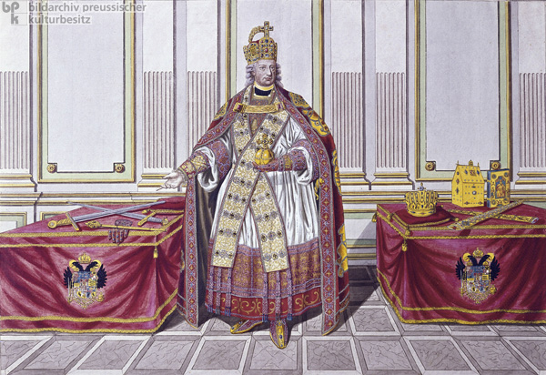 Leopold II, Holy Roman Emperor, in his Coronation Regalia (after 1790)
