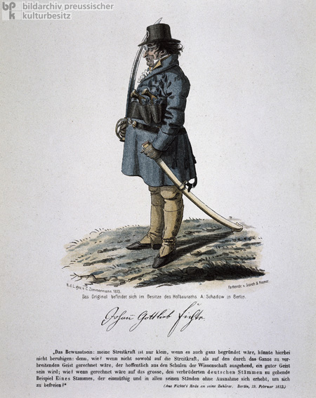 Johann Gottlieb Fichte Dressed as a Soldier (1813)