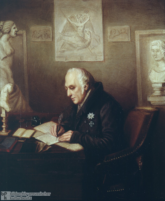 Wilhelm von Humboldt in His Study at Tegel Castle (c. 1830)