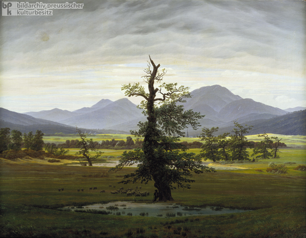 Caspar David Friedrich, <I>Solitary Tree (Village Landscape in Morning Light)</i> (1822)