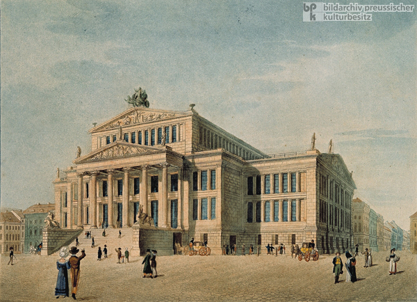 The New Theater [<I>Schauspielhaus</i>] in Berlin (c. 1825)