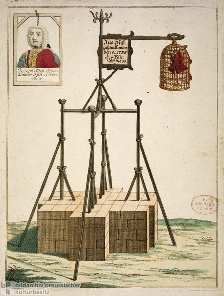 "The Gallows from which Joseph Süß Oppenheimer (""Jew Süß"") was Hanged (1738)"