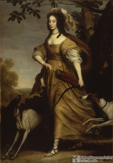 Princess Louise Henriette of Orange as the Goddess Diana (1643)