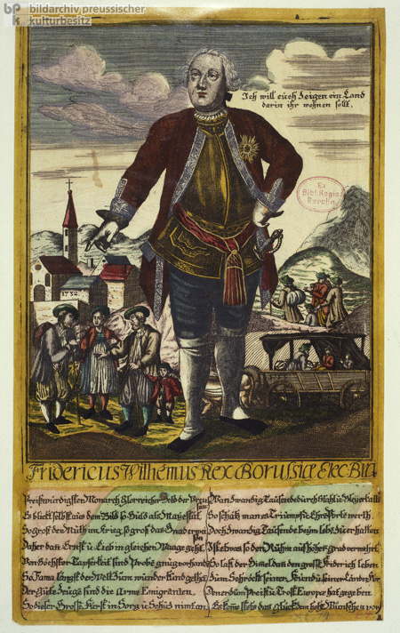 Allegorical Depiction of King Frederick William I as the Patron of the Salzburg Protestants in the Year 1732 (1734)