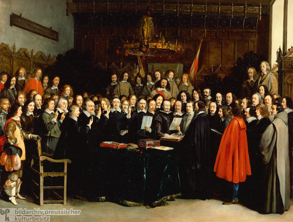 Peace of Westphalia: The Swearing of the Oath of Ratification of the Treaty of Münster (1648)