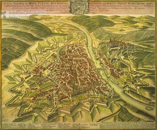 Layout of the Residence and Capital City of Würzburg in the Year 1723 (1723-24)