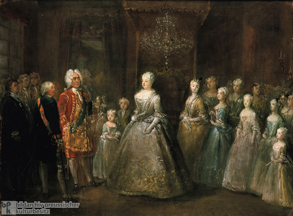 "August II (""the Strong"") of Poland is Received at the Palace in Berlin (1728)"