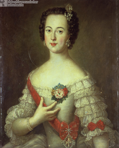 Princess Sophie Friederike Auguste of Anhalt-Zerbst, later Catherine II of Russia (1745)