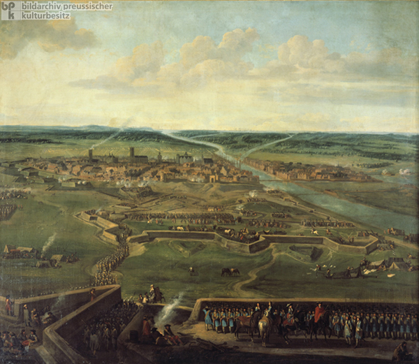 "The City of Stettin under Siege by Frederick William (""the Great Elector"") in the Winter of 1677-78 (c. 1680)"