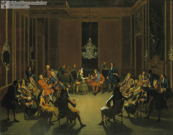 Smoking Party at the Court of Frederick I in the Palace in Berlin (c. 1710)