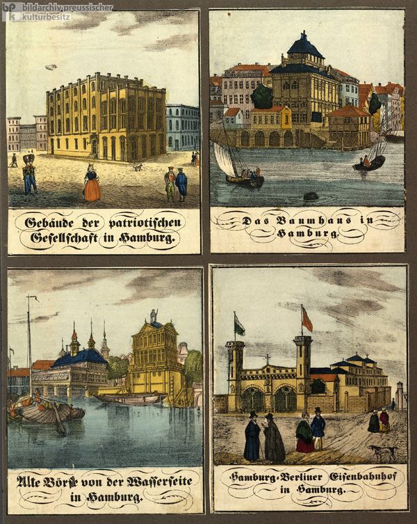 Hamburg – Views of the Patriotic Society, the
