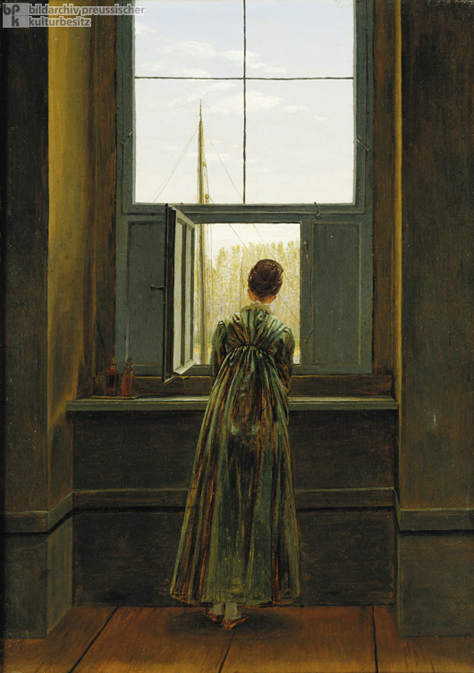 Caspar David Friedrich, <I>Caroline at the Window</i> (1822)