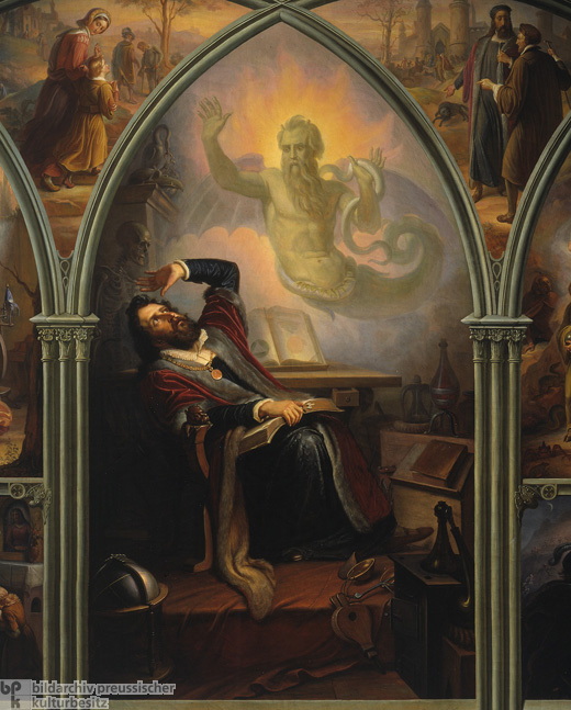 """Faust Conjures up the Spirits"" (c. 1840)"