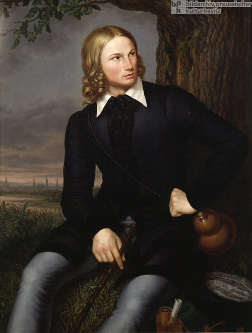 Portrait of the Poet August Heinrich Hoffmann von Fallersleben as a Young Man (1819)