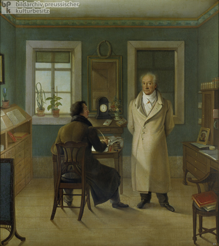Goethe with Johann August Friedrich John (1831)