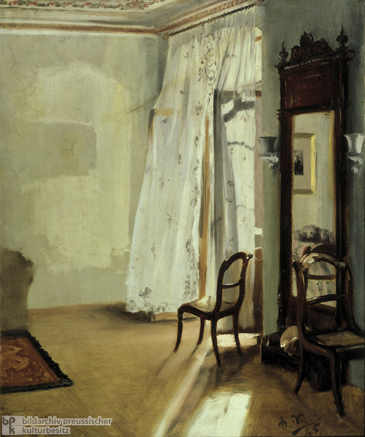 Adolph von Menzel, <I>The Balcony Room</i> (1845)