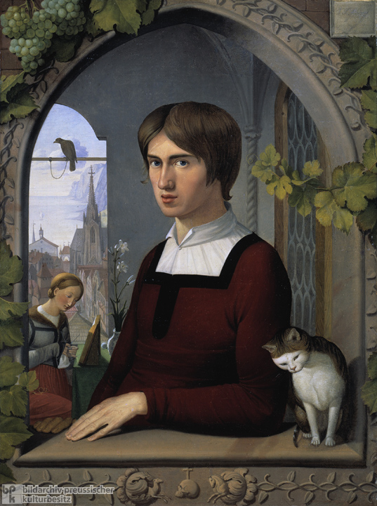 Friedrich Overbeck, <I>Portrait of the Painter Franz Pforr</i> (c. 1810)
