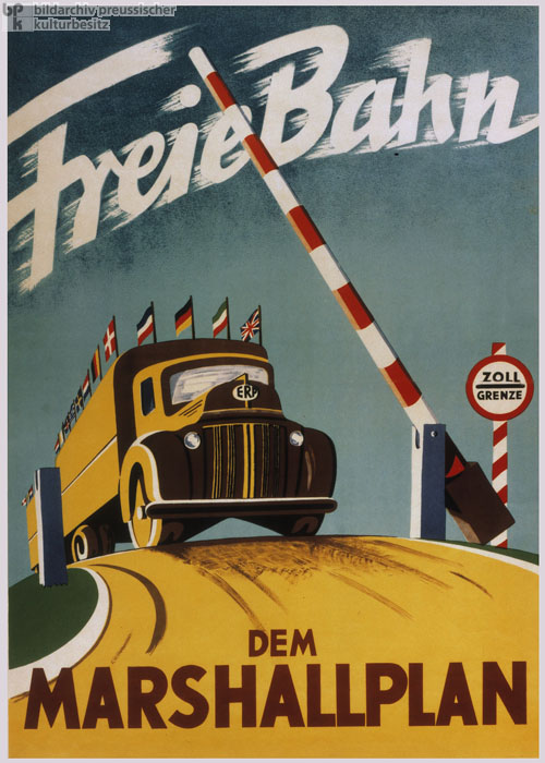 """A Border-free Open Road for the Marshall Plan"" (c. 1948)"