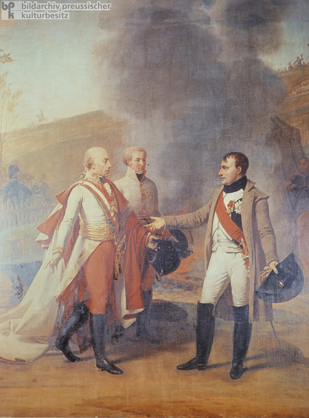 Napoleon and Emperor Francis I of Austria at Austerlitz on December 4, 1805 (Undated Painting)