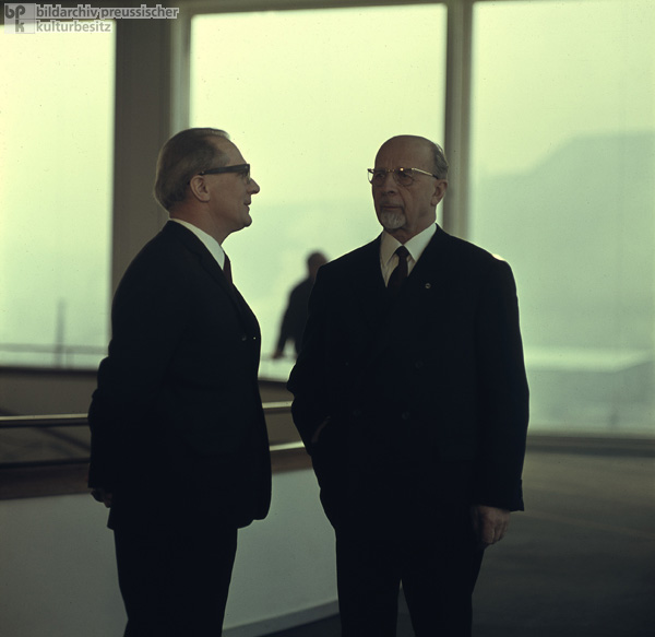 Erich Honecker and Walter Ulbricht, East Berlin (1968)