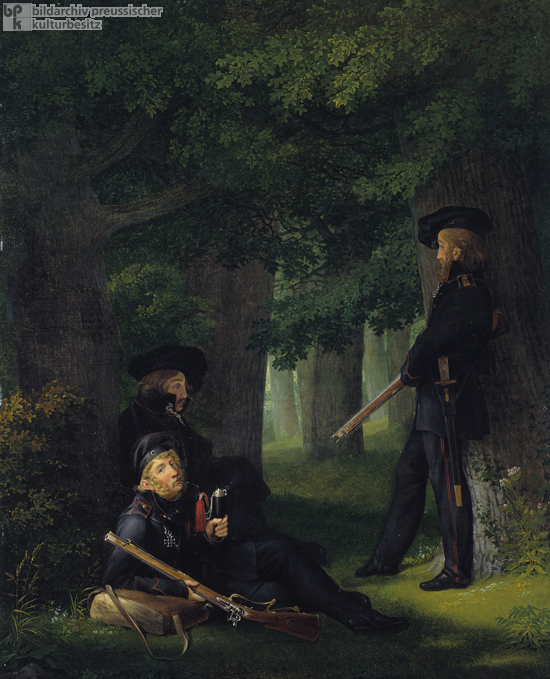 Georg Friedrich Kersting, <I>On Outpost Duty</i> (1815)