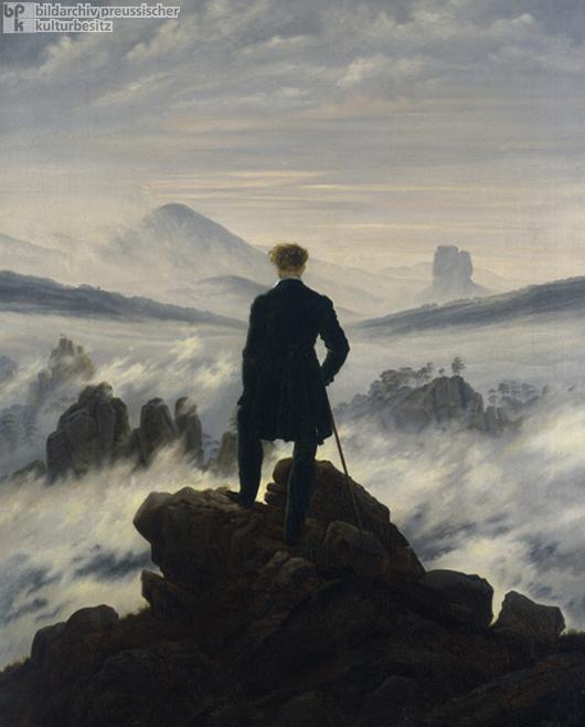 Caspar David Friedrich, <I>Wanderer above a Sea of Fog</i> (c. 1818)