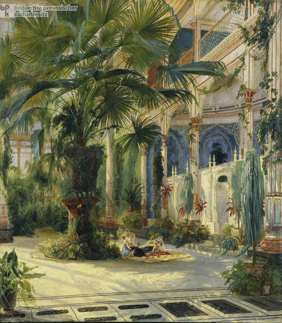 Carl Blechen, <I>The Interior of the Palm House on Peacock Island</i> (1832-34)