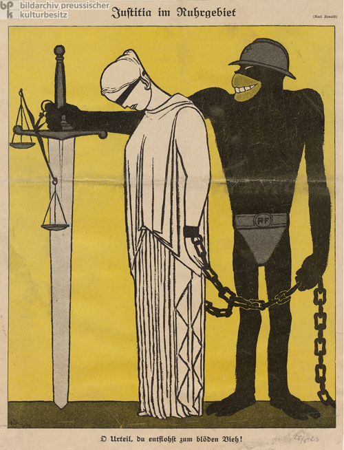&quot;Justice in the Ruhr Region,&quot; Caricature from <I>Simplicissimus</i> (May 1923)
