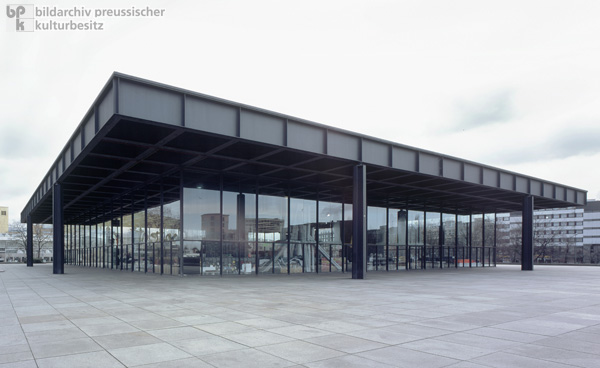 The Neue Nationalgalerie (New National Gallery) on Potsdamer Platz in West Berlin (1965-68)