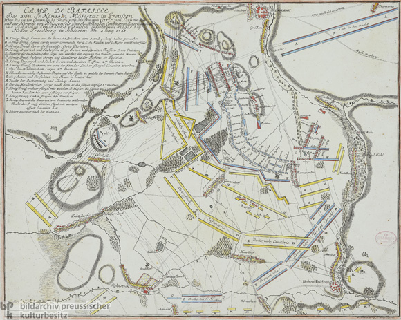 Commemorative Reproduction of the Battlefield at Hohenfriedberg/Silesia on June 4, 1745 (18th Century)