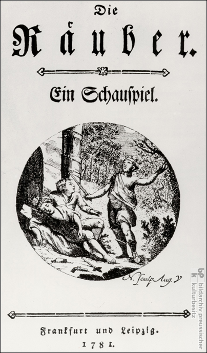 First Edition of <I>Die Räuber</i>, Published Anonymously (1781)