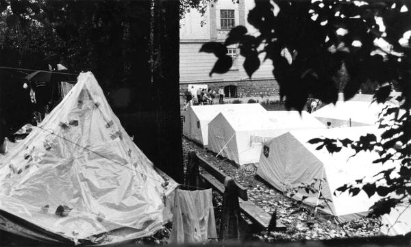 Tents on the Grounds of a Church in Budapest-Zugliget (Summer 1989)
