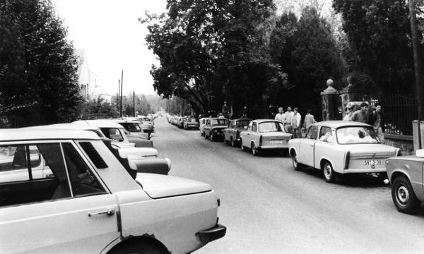 East German Cars on Budapest Roadsides (Summer 1989)