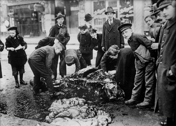 Butchering a Horse in the Streets of Berlin (1920)