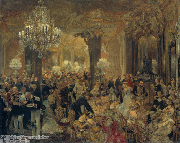 Adolph Menzel, <I>The Supper at the Ball</i> [<I>Das Ballsouper</i>] (1878)