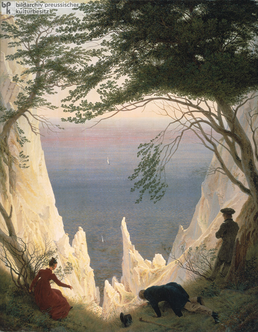 Caspar David Friedrich, <I>Chalk Cliffs of Rügen</i> (1818/19)