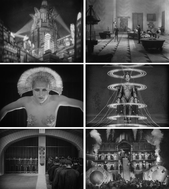 Scenes from <i>Metropolis</i> by Fritz Lang (1927)