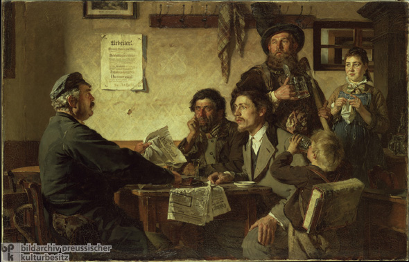 恩斯特Henseler,<I>酒馆场景</ I> [ Wirtshausszene </ I>](1877)