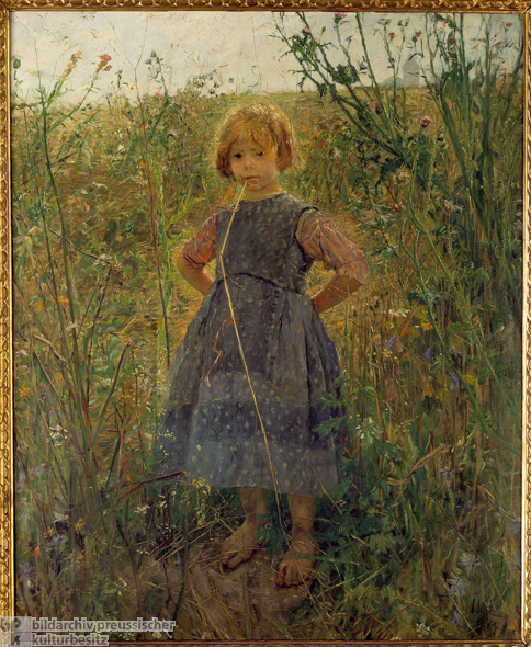 Fritz von Uhde, <i>Little Heathland Princess</i> [<i>Heideprinzeßchen</i>] (1889)