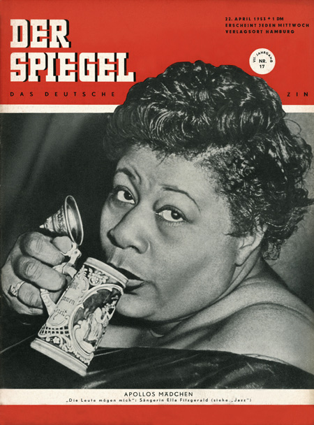Singer Ella Fitzgerald (April 1953)